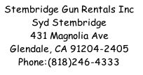 Stembridge Gun Rentals Contact